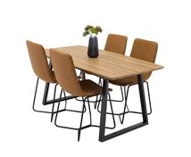 Living Home Matrumspaket Inca & 4 X-Chair Stolar